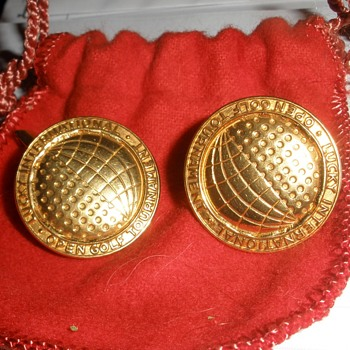 Super Rare Lucky International Open Tournament Cufflinks by Delmas & Delmas Jewelers