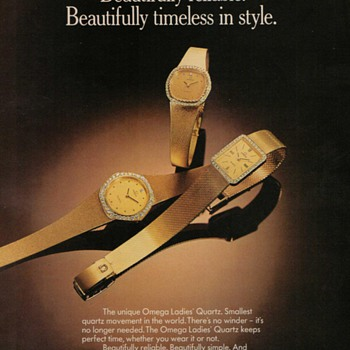 1978 Omega Wristwatches Advertisement - Advertising