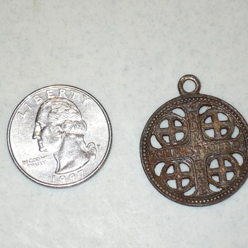 antique for thee christ died war pendant