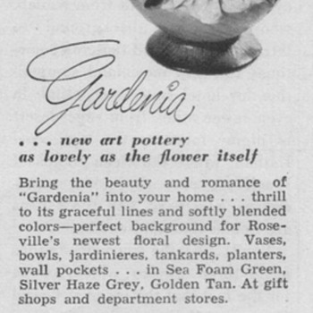 1950 Roseville Pottery Advertisement