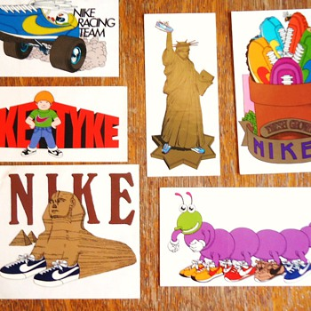 Early 1970's NIKE stickers!
