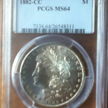 1882 Carson City Morgan Dollar - US Coins