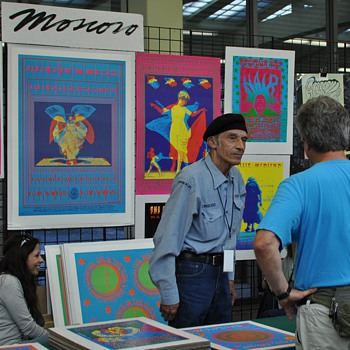 Victor Moscoso and Alexandra Fischer at TRPS Festival of Rock Posters, 10/9/10