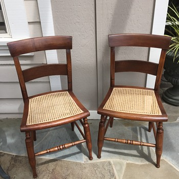 Antique American Chair with caned seat needs I.D.