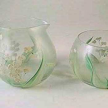 More Of My Hand Painted Dorothy Thorpe Collection - Glassware