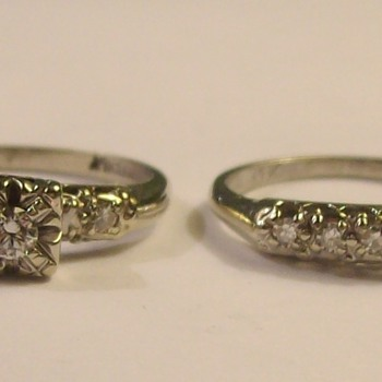 One Final Wedding /Engagement Set From The 1950's - Fine Jewelry