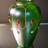Loetz Creta Glatt Iridescent Jeweled Vase.