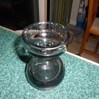 Heavy glass bud vase or tea light holder?