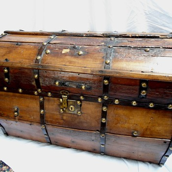 Antique Jenny Lind Trunk - Furniture