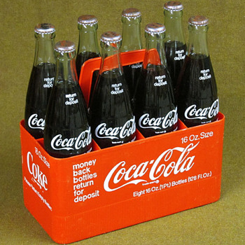 Case Of Eight 16 oz. Bottles Of Coca-Cola - Coca-Cola