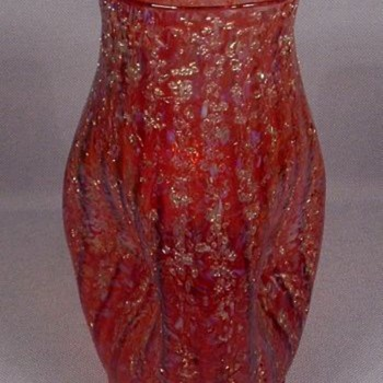 Red Dugan Art Glass Vase c. 1905
