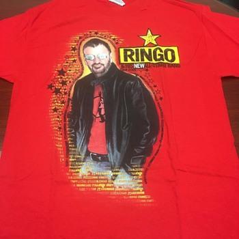 Ringo's personally owned tour shirt-2001 - Music Memorabilia