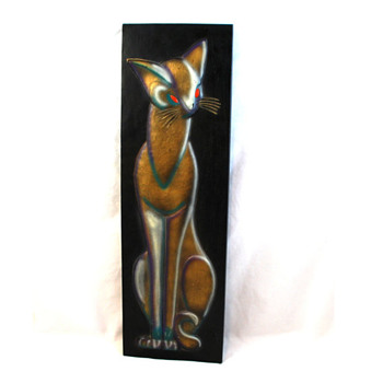 60s Siamese Cat Wall Art Arabesque by Burwood Mid Century ...