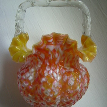 Victorian  Basket - Art Glass