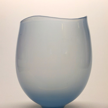 Rare light blue Gunnar Nylund vase - Strombergshyttan mid 1950s. - Art Glass