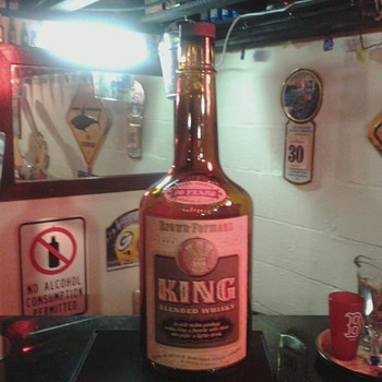 King Whisky Display Bottle 1951