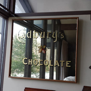 Antique Cadbury's Advertising Mirror