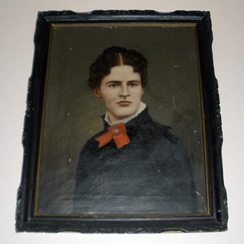 """Mrs. Stern""  18??  Portrait of a woman by Itinerant Artist? - Visual Art"