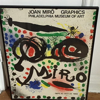 Joan Miro poster for the exhibition. Philadelphia museum of art 1966. - Posters and Prints