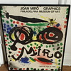 Joan Miro poster for the exhibition. Philadelphia museum of art 1966.