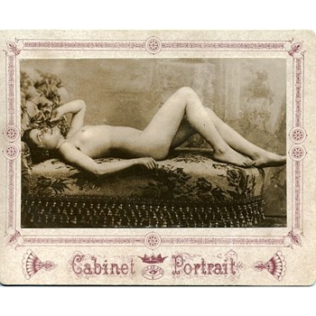 Early Boudoir Style Cabinet Portrait Card