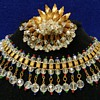 Fabulous 1940&#039;s Crystal Choker Necklace &amp; Brooch - Hahne &amp; Co.