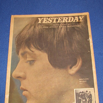 1965 Beatles Sheet Music (YESTERDAY) - Music