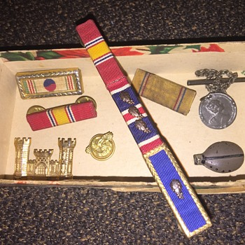 Box of old medals