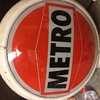 Super rare metro oil company gas globe