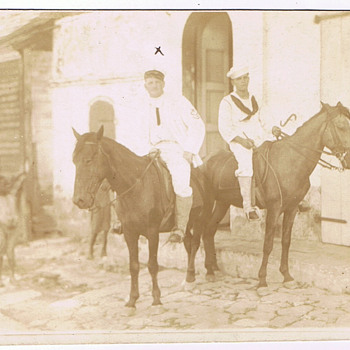 Pre WWI U.S. Navy Shore Patrol Cavalry???  RPPC - Military and Wartime