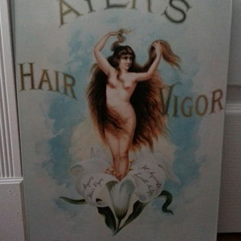 AYERS HAIR VIGOR FOR THE TOILET - Advertising