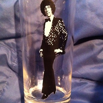 Mystery man on drinking glass