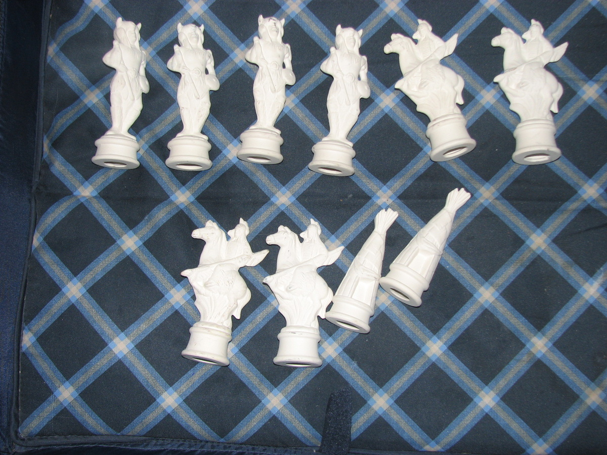Ceramic american indian chess set collectors weekly - Ceramic chess sets for sale ...