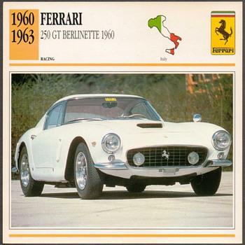 Vintage Car Card - Ferrari Berlinette - Classic Cars