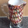 Welz 'harlequin honeycomb' decor jug