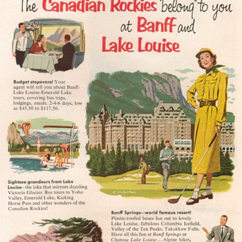 1953 - Canadian Pacific Railway Advertisement - Advertising