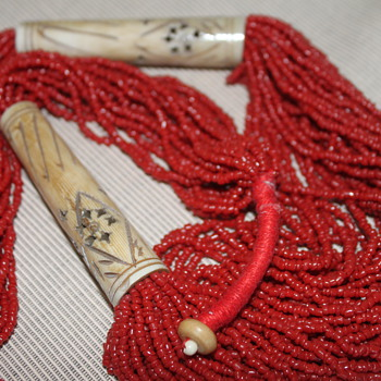 Red Coral Seed Bead Necklace - Fine Jewelry