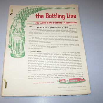 corporate newsletters, The bottling line, from 1960&#039;s - Coca-Cola