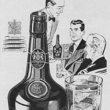 1950 VAT 69 Scotch Advertisement