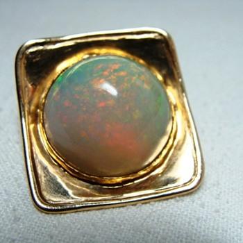 Opal Tie Tack