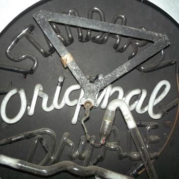 vintage standard dry ale neon beer sign