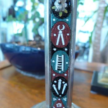 Italian micro mosaic Crucifix  - Fine Jewelry