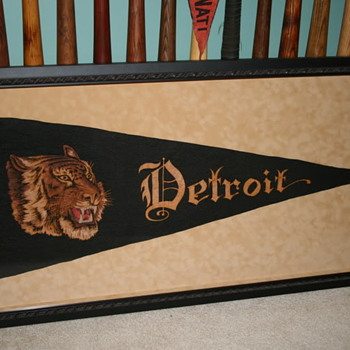 My favorite Cubs and Tigers pennants