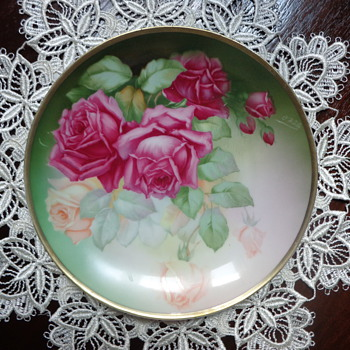 "Thomas ""Sevres"" Bavaria, Monte Carlo, Hand Painted Plate - China and Dinnerware"
