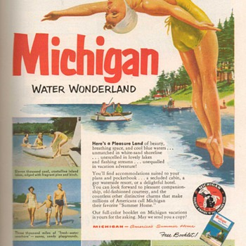 1952 - Michigan Travel Advertisement - Advertising