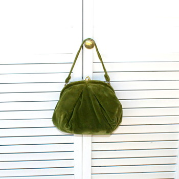 Vintage Velvet Purse 1930's or 40's - Accessories