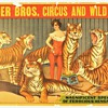 Original 1920 &quot;Snyder bros. Circus and Wild West&quot; Stone Lithograph Poster