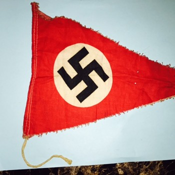 I found the same Nazi flag on the Eisenhower National Historic Site! This was in a box of my dad's WWII items
