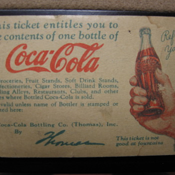 Coca-Cola Bottle Coupon - Coca-Cola