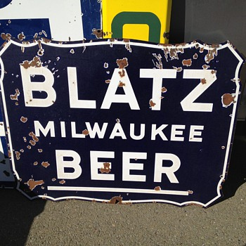 Blatz Beer Porcelain Sign - Breweriana